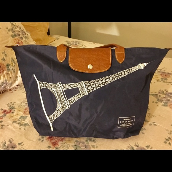medio Champ Longchamp Borse Big Poshmark Bag a da ztw1Sxv